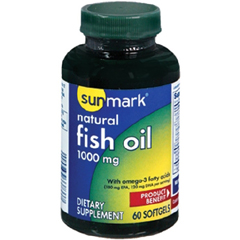 MON27222700 - McKessonsunmark® Natural Fish Oil Dietary Supplement 1000 mg Softgels, 60 per Bottle