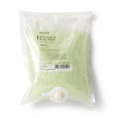 MON27261801 - McKessonShampoo and Body Wash 1000 mL Dispenser Bag Cucumber Melon Scent