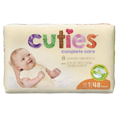 MON1102728CS - First Quality - Cuties Complete Care Diapers (CCC01), 48/BG, 4BG/CS