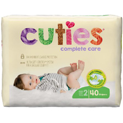 MON1102729BG - First Quality - Cuties Complete Care Diapers (CCC02), 40/BG