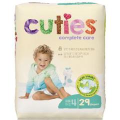 MON1102731CS - First Quality - Cuties Complete Care Diaper, 29/BG, 4BG/CS