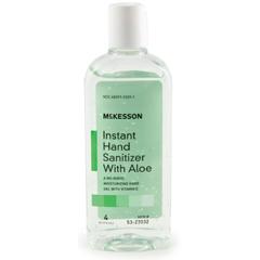 MON27322704 - McKessonHand Sanitizer with Aloe 4 oz. Ethanol Squeeze Bottle, 24EA/CS