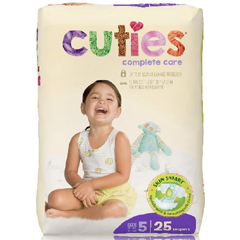 MON1102732BG - First Quality - Cuties Complete Care Diaper (CCC05), 25/BG