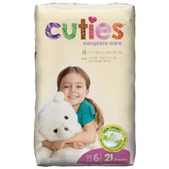 MON1102733CS - First Quality - Cuties Complete Care Diaper (CCC06), 21/BG, 4BG/CS
