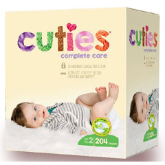 MON1102737CS - First Quality - Cuties Complete Care Diaper (CCC12), 204/CS