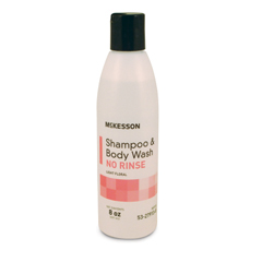 MON27391800 - McKessonNo-Rinse Shampoo and Body Wash 8 oz. Squeeze Bottle Light Floral Scent