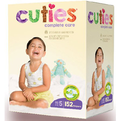 MON1102740CS - First Quality - Cuties Complete Care Diaper (CCC15), 152/CS