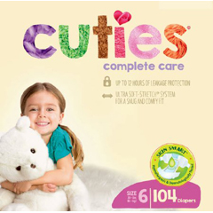 MON1102741CS - First Quality - Cuties Complete Care Diaper (CCC16), 104/CS