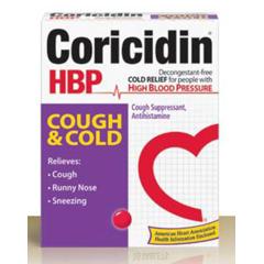 MON27512700 - Schering PloughCold Relief Coricidin HBP 200 mg / 10 mg Strength Softgel 20 per Bottle