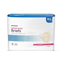 MON27783101 - McKessonSuper Plus Moderate Absorbency Briefs, X-Large, 20/BG