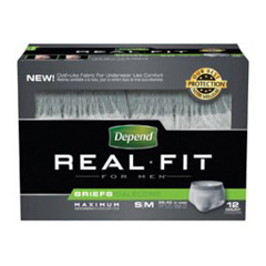 MON27793101 - Kimberly Clark ProfessionalDepend® Real Fit® Briefs for Men