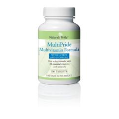 MON28102700 - Nature's ProductsMultivitamin Supplement Natures Pride Multipride Tablet 130 per Bottle