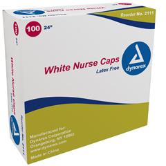 MON28211105 - DynarexO.R. Nurses Cap White Elastic Headband
