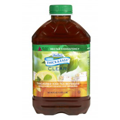 MON732809CS - Hormel Health Labs - Thick & Easy® Clear Thickened Beverage, Iced Tea, 46 oz., Ready to Use, Nectar