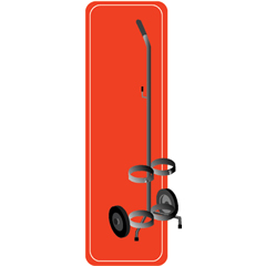 MON386480EA - Mada Medical - Cylinder Cart, 1/EA