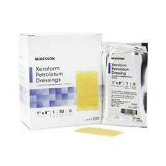 MON28962101 - McKesson - Xeroform Petrolatum Dressing 1 X 8 Gauze Bismuth Tribromophenate Sterile