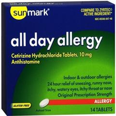 MON29012700 - McKessonAntihistamine sunmark® 10 mg, 14EA/BX