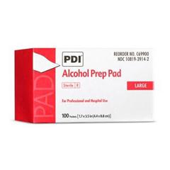 MON29362710 - PDIAlcohol Prep Pad PDI Isopropyl Alcohol, 70% Individual Packet Large Sterile