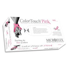 MON29591300 - Microflex MedicalExam Glove ColorTouch® Pink NonSterile Powder Free Latex Small