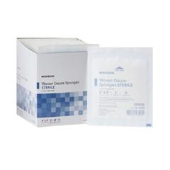 MON30122030 - McKessonSponge Dressing Medi-Pak® Performance Cotton Gauze 12-Ply 3 X 3 Inch Square, 2/PK 40PK/BX 30BX/CS