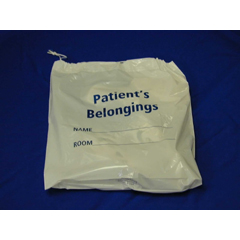 MON30421200 - McKessonPatient Belongings Bag Medi-Pak® Performance 4 X 20 X 20 Inch Polyethylene White, 250EA/CS