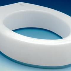 MON443718CS - Apex-Carex - Raised Toilet Seat 3-1/2 White 300 lbs.