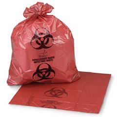 MON382114CS - Medegen Medical Products LLC - Biohazard Waste Bag Medegen Medical Products 1 - 3 gal. Red Polyethylene 11 X 14 Inch, 1000/CS