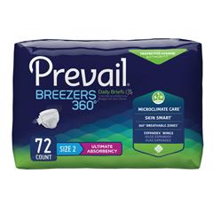 MON31023100 - First QualityPrevail® Breezers 360° Briefs - Size 2, 72/CS