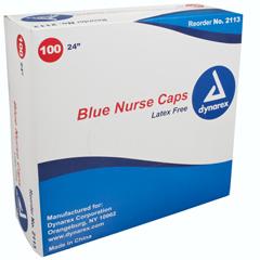 MON31121100 - DynarexBouffant Cap Blue Elastic 24, 100EA/BX