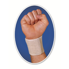 MON31303000 - Scott Specialties - Wrist Wrap Carrot Elastic Left or Right Hand Beige One Size Fits Most