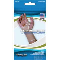 MON31312000 - Scott Specialties - Wrist Support Pull-On Knitted Elastic Left or Right Hand Beige Medium
