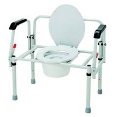 MON31423300 - Merits HealthBariatric 3-In-1 Commode Fixed Arms Steel 16.5 - 22.5 Inch, 2EA/CS