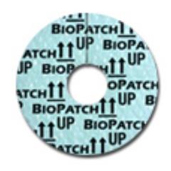 MON31522100 - Johnson & JohnsonIV Dressing Biopatch 1 Disk (2.5 cm) With 7.0 mm Center Hole Round
