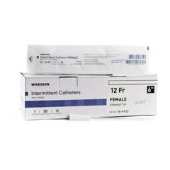 MON1020812BX - McKesson - Urethral Catheter McKesson Straight Tip PVC 12 Fr. 6 Inch