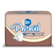 MON31633101 - First QualityIncontinent Brief Prevail Simply StretchFit Tab Closure Size B Disposable Heavy Absorbency