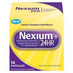 MON31702700 - PfizerAntacid Nexium 24HR 20 mg Strength Delayed-Release Capsule 14 per Bottle
