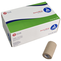 MON31742000 - DynarexAdhesive Bandage Sensi-Wrap 4 Inch X 5 Yard Roll Tan, 18EA/CS