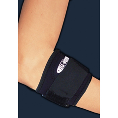 MON31783000 - DJOTennis Elbow Strap Small / Medium Hook and Loop Closure With Compression Pad Left or Right Arm 9 - 11 Inch Forearm Circumference
