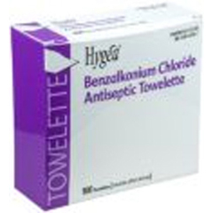 MON31851220 - PDISanitizing Skin Wipe Hygea BZK Box Benzalkonium Chloride 100 per Pack