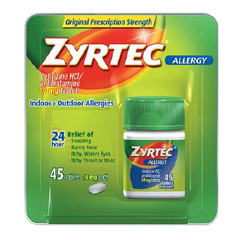MON31902700 - Johnson & JohnsonAllergy Relief Zyrtec® 10 mg 45 per Bottle
