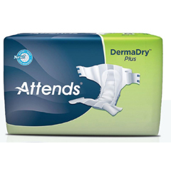 MON32053101 - AttendsIncontinent Brief Attends Tab Closure Large Disposable Moderate Absorbency