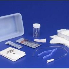 MON32181900 - MedtronicIntermittent Catheter Tray Curity Open System/Urethral 14 Fr. w/o Balloon Red Rubber