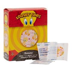 MON32282000 - Dukal - Adhesive Spot Bandage Stat Strip® 0.875 Diameter Plastic Round Kid Design (Looney Tunes / Tweety) Sterile, 2400/CS