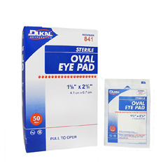 MON647277BX - Dukal - Eye Pad Cotton 1-5/8 x 2-5/8 Sterile, 50/BX