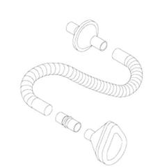 MON32573900 - RespironicsRespiratory Circuit Cough Assist Adult