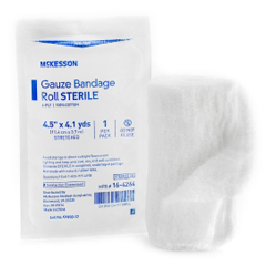 MON32642000 - McKessonConforming Dressing Medi-Pak Performance Cotton Gauze 4.5 x 4.1 Yard Roll