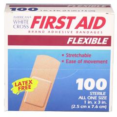MON32822010 - Dukal - First Aid Flexible Fabric Adhesive Bandages (1595033), 100 EA/BX, 12BX/CS