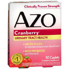 MON32862700 - I Health IncCranberry Supplement AZO 500 mg Strength Tablet 50 per Bottle