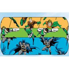 MON32962000 - Dukal - Adhesive Strip Stat Strip® .75 x 3 Plastic Rectangle Kid Design (Aquaman / Green Lantern) Sterile, 1200/CS
