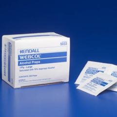 MON33052700 - MedtronicPrep Pad Webcol™ Isopropyl Alcohol, 70% Large, 200EA/BX